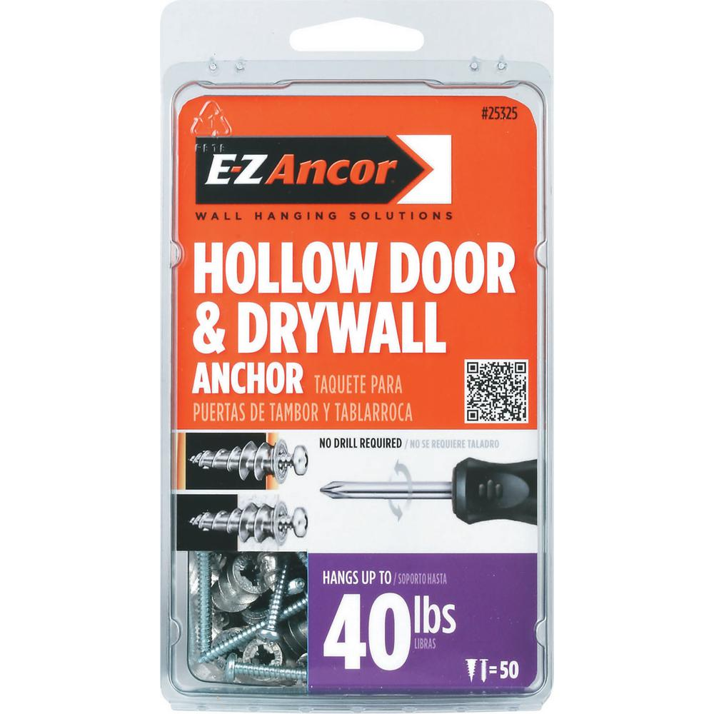E-Z Ancor 1 in. Hollow Door and Drywall Anchors (50-Pack)