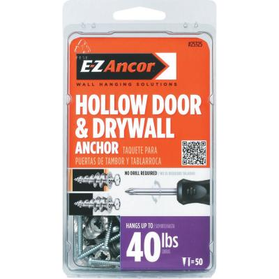1 in. Hollow Door and Drywall Anchors (50-Pack)