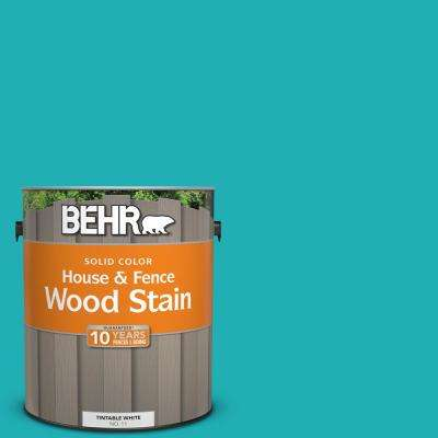 1 gal. #500B-5 Mermaid Treasure Solid Color House and Fence Exterior Wood Stain