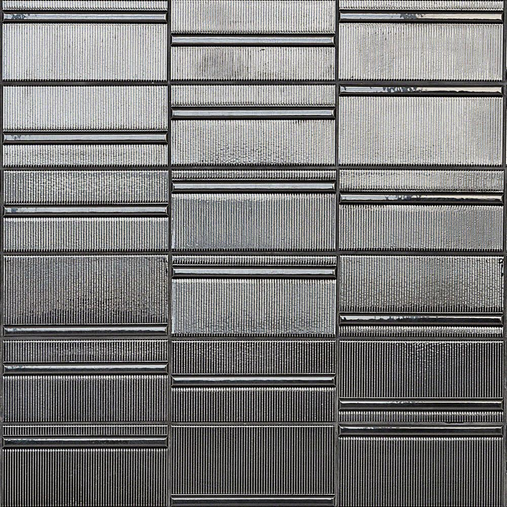 Ivy Hill Tile Magnitude Echo Dark Gray 4 in. x 8 in. x 7.5mm Polished Ceramic Subway Wall Tile (50 pieces / 10.76 sq. ft. / box)