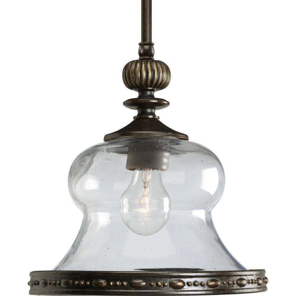 Fiorentino Collection 1-Light Forged Bronze Mini Pendant