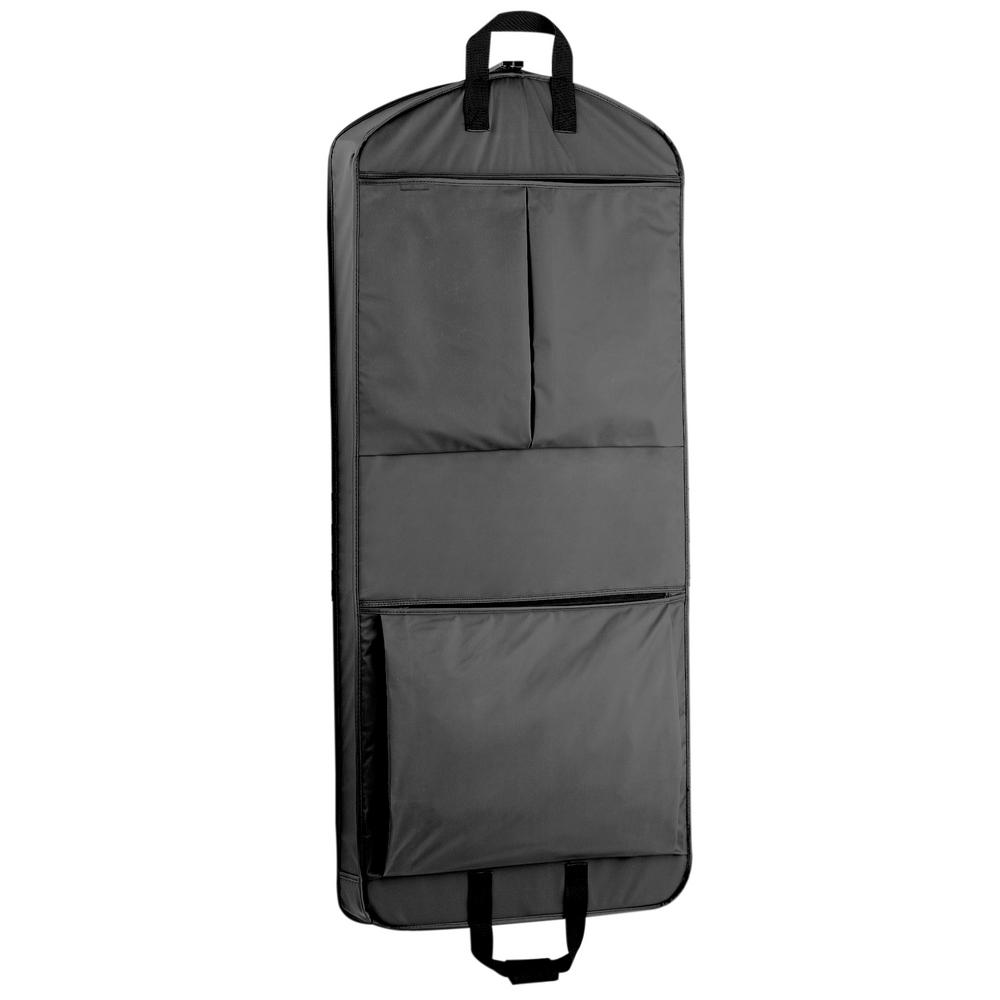 52 in. Dress Length Carry-On XL Black Garment Bag with 2-Pockets
