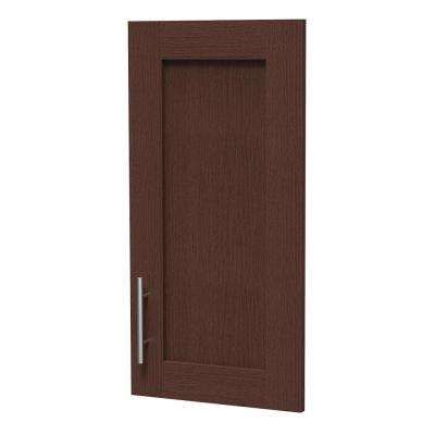 15 in. x 30 in. x 0.75 in. Madison Door Kit for Utility Wall Cabinet with Handle in Mocha