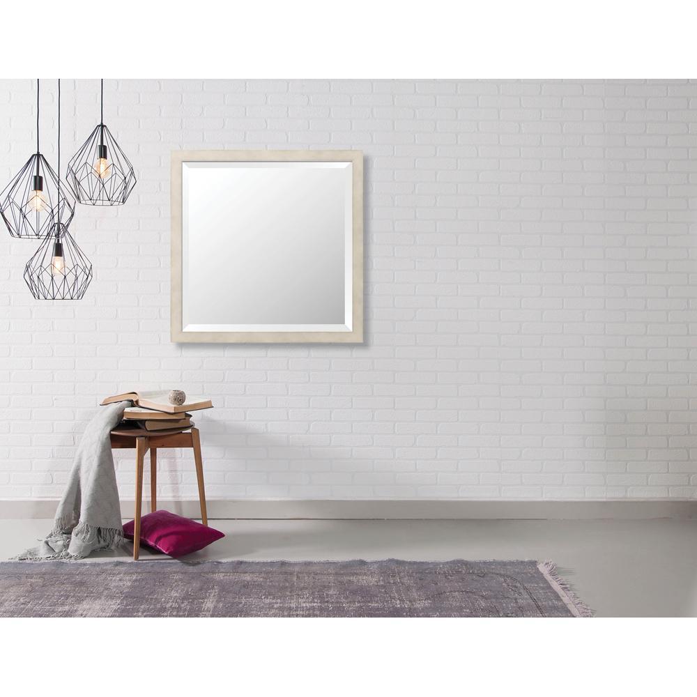 Hyde 26.875 in. x 26.875 in. Modern Framed Bevel Mirror