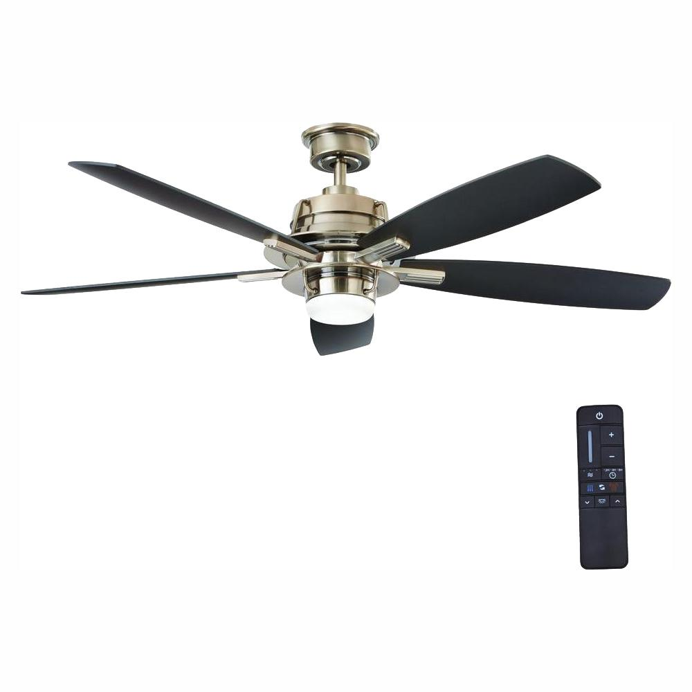 Home Decorators Collection Montpelier 56 in. LED Indoor Gunmetal Ceiling Fan with Light Kit and Remote Control