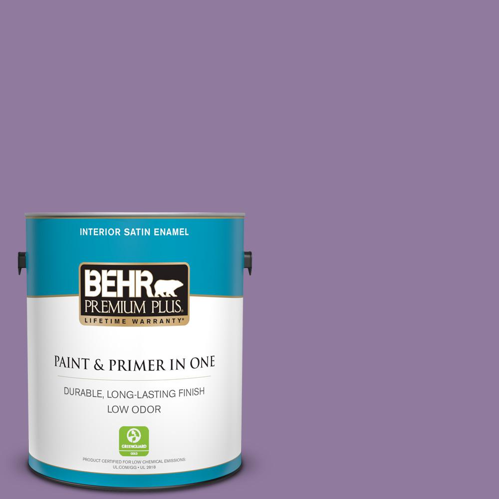 1 gal. #660D-5 Wildflower Satin Enamel Low Odor Interior Paint and