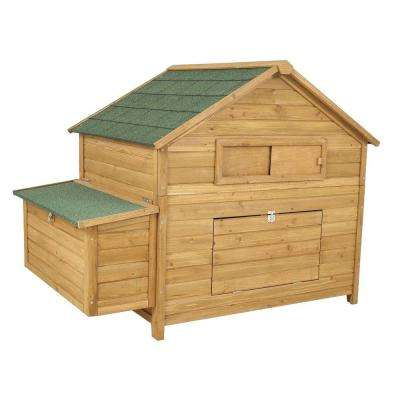 59.5 in. x 40 in. x 46 in. High Capacity Chicken Fort Coop