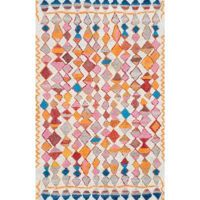 Moroccan Helaine Shaggy Multi 5 ft. x 8 ft. Area Rug