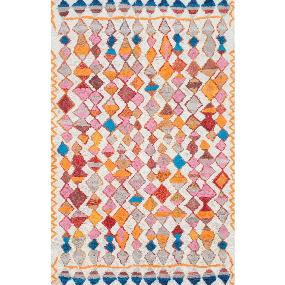 Helaine Moroccan Boho Shag Multi 9 ft. x 12 ft. Area Rug