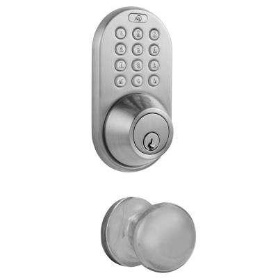 Satin Nickel Keyless Entry Deadbolt and Door Knob Lock Combo Pack with Electronic Digital Keypad