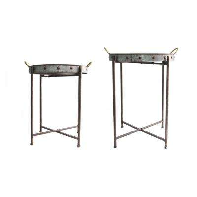 Metal Tray Tables (Set of 2)