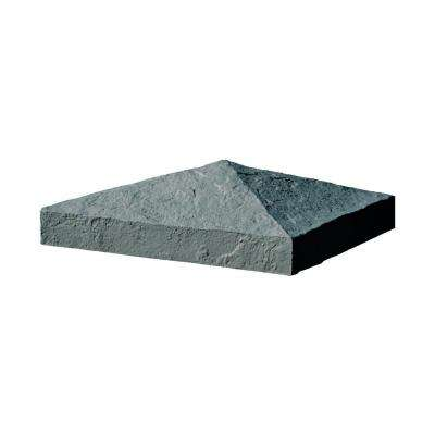 Slatestone 10.5 in. x 10.5 in. x 3.5 in. Charcoal Faux Polyurethane Stone Post Cover Cap