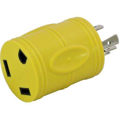 RV Generator Adapter NEMA L14-20P 20 Amp 125-Volt/250-Volt 4-Prong Locking Plug to RV TT-30R 30 Amp RV Female Connector