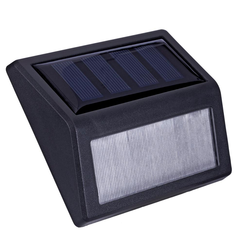 Solar Black LED Stair Light 10 Lumens (4-Pack)
