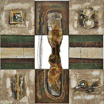 35.5 in. x 35.5 in. Lustrious Metal II Hand Painted Contemporary Artwork