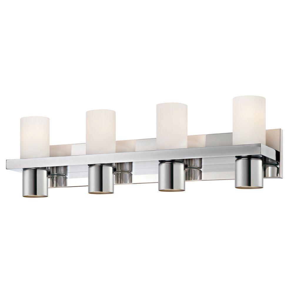Eurofase Pillar Collection Light Chrome Bath Bar Light - 8 light bathroom bar
