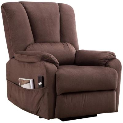 Elderly-Heavy Duty Power Lift Recliner Chair with Antiskid Fabric Sofa Overstuffed Design Espresso