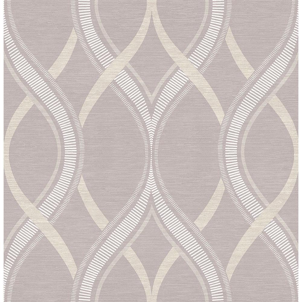 Frequency Lavender Ogee Wallpaper, Purple