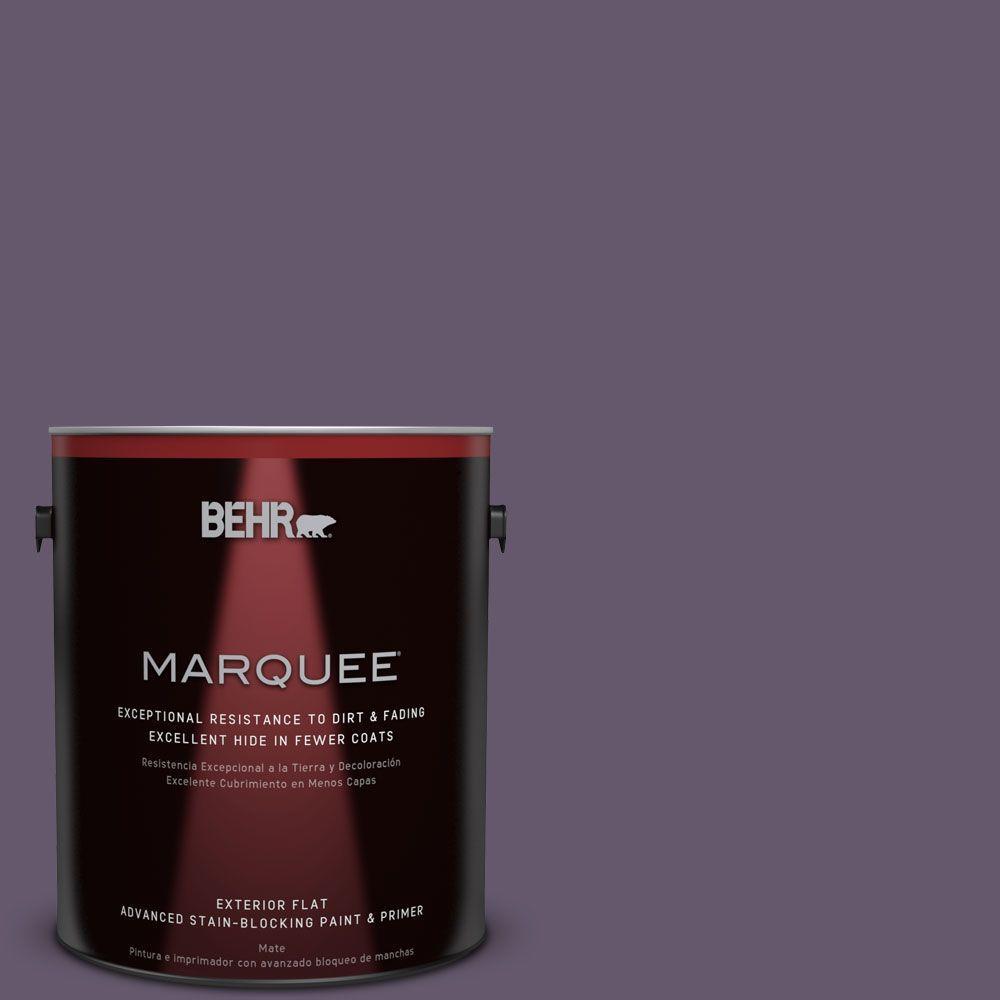 BEHR MARQUEE 1-gal. #PPU17-4 Darkest Grape Flat Exterior Paint