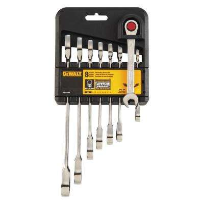 Ratcheting Metric Combination Wrench Set (8-Piece)