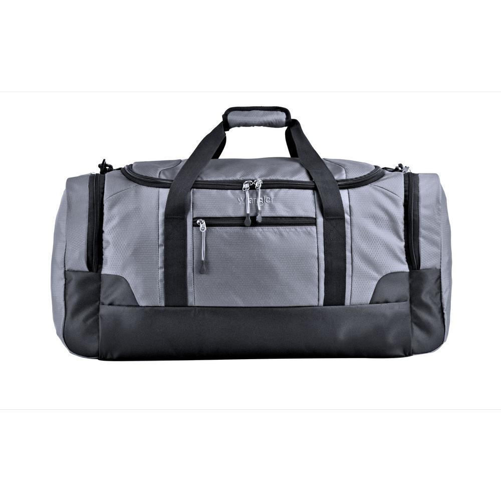 WRANGLER 24 in. Gray Multi-Pocket Sport Duffel Bag