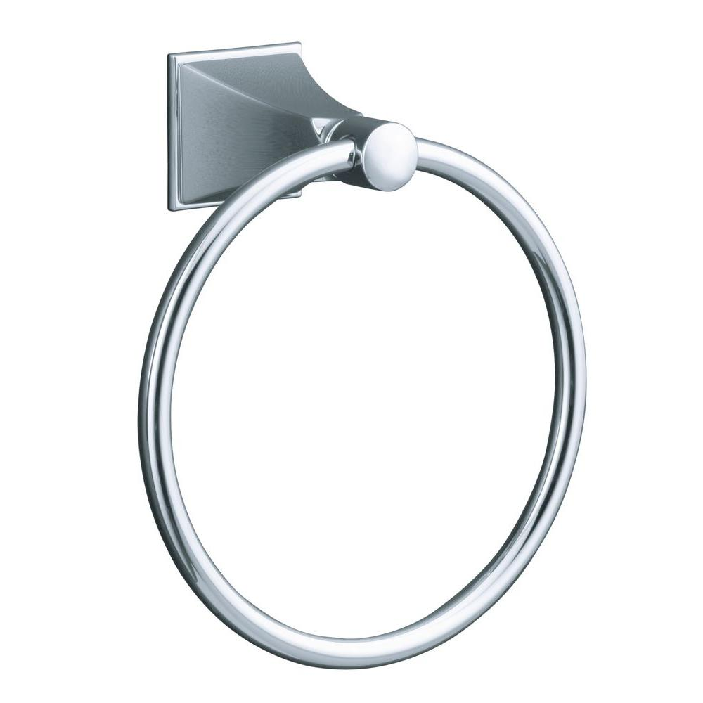 Kohler Memoirs Towel Ring In Polished Chrome K 487 Cp