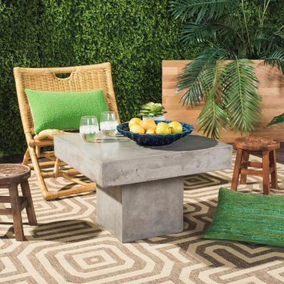 Tallen Dark Gray Square Stone Indoor/Outdoor Coffee Table