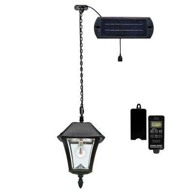 Baytown II Solar Black Integrated LED Hanging Light with Remote Control