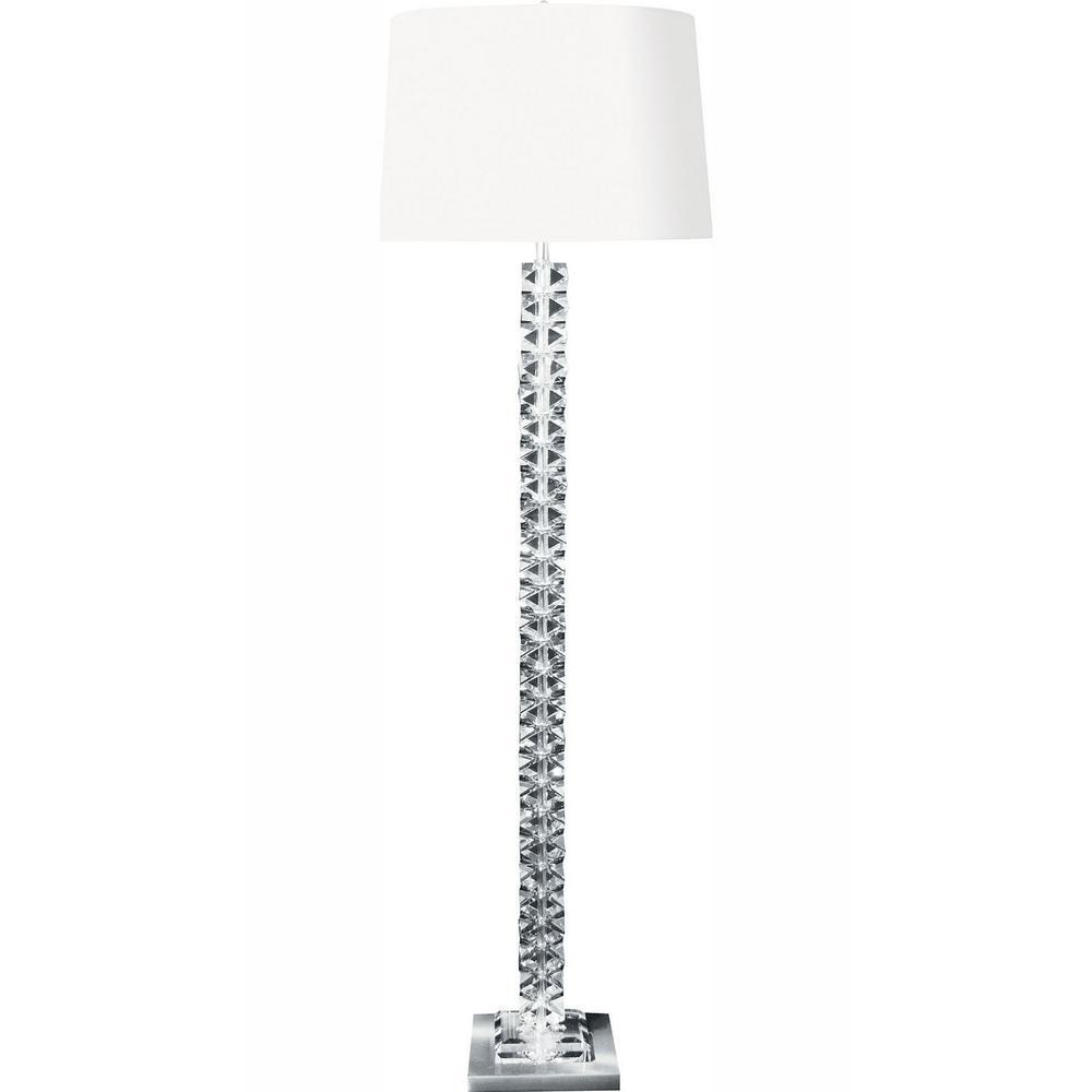 Titan Lighting 62 in. Diamond Cut Crystal LED Floor Lamp