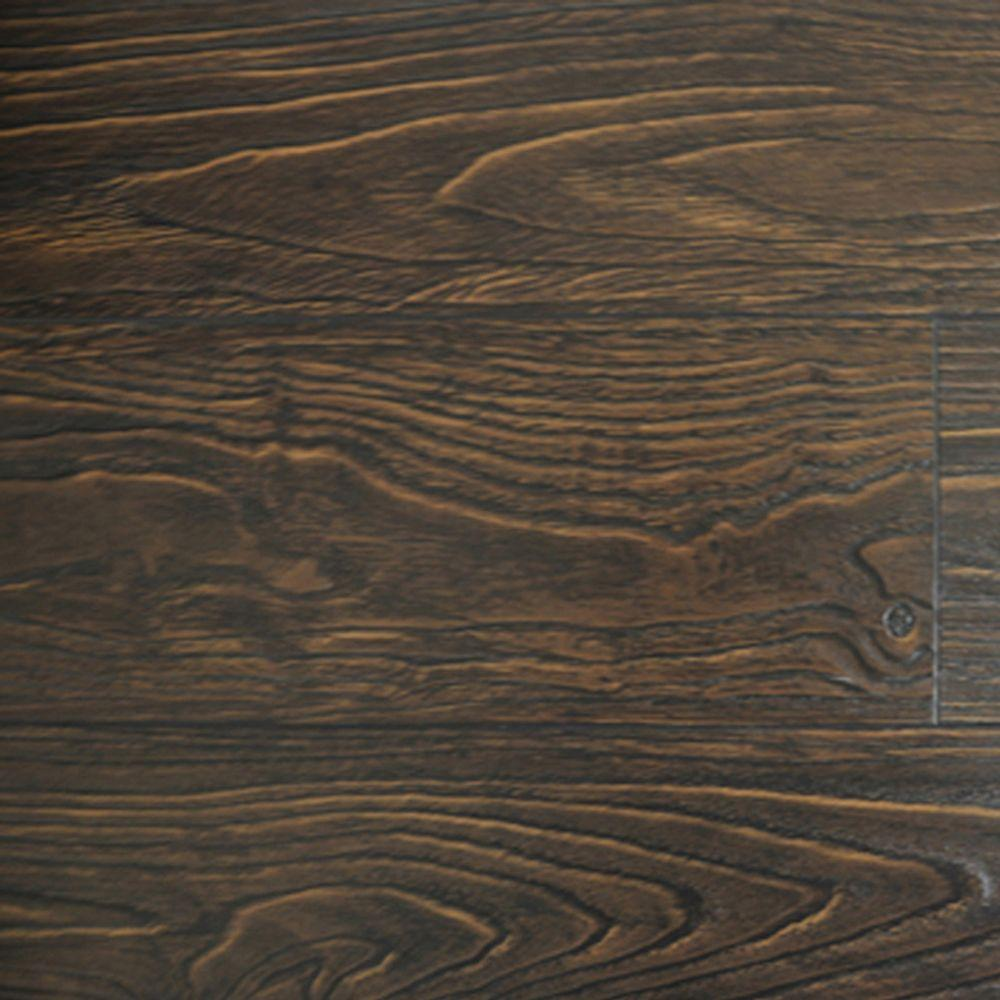 PID Floors Espresso Color Laminate Flooring - 6-1/2 in. Wide x 3 in. Length Take Home Sample