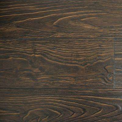 Espresso Color Laminate Flooring - 6-1/2 in. Wide x 3 in. Length Take Home Sample