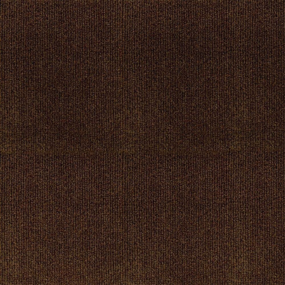 TrafficMASTER Ribbed Brown Texture 18 in. x 18 in. Carpet Tile (16 Tiles/Case)
