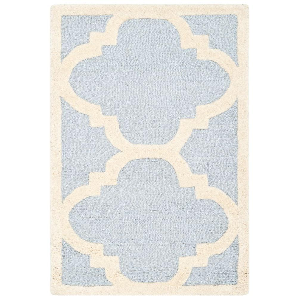 Cambridge Light Blue/Ivory 2 ft. 6 in. x 4 ft. Area