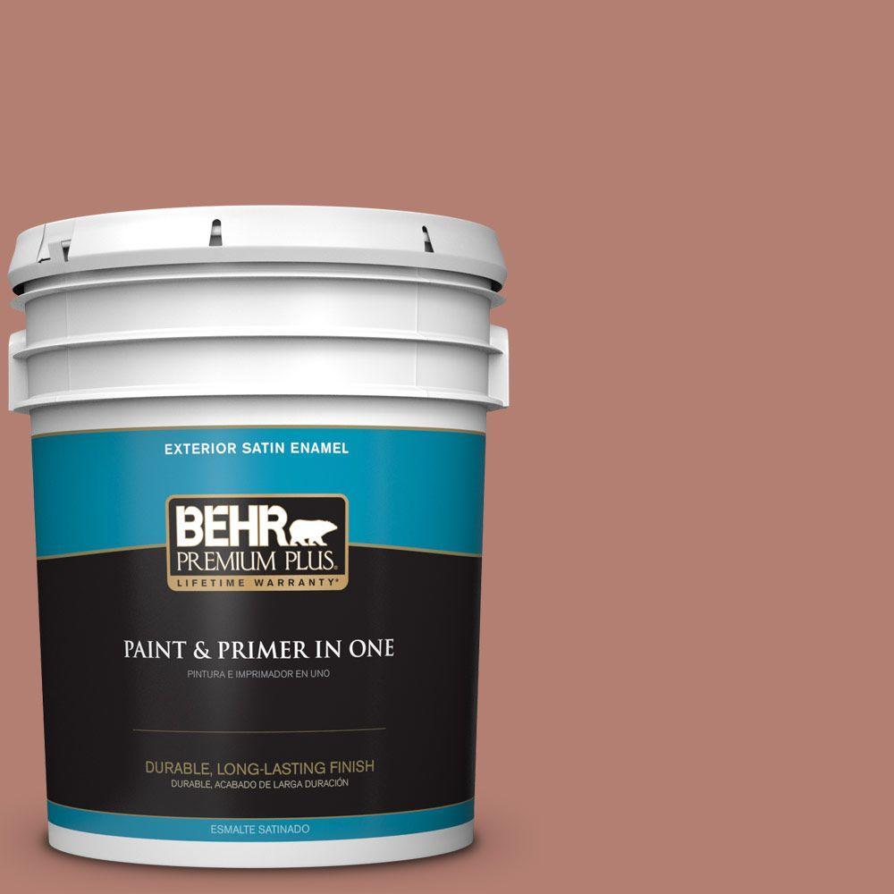 BEHR Premium Plus 5-gal. #ICC-102 Copper Pot Satin Enamel Exterior Paint