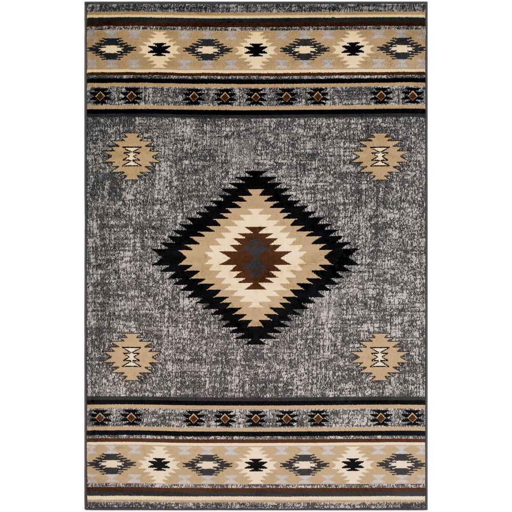 Sora Medium Grey 2 ft. x 3 ft. Native American Area Rug