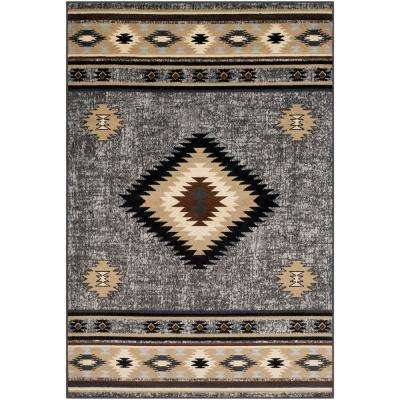 Sora Medium Grey 6 ft. 7 in. x 9 ft. 6 in. Native American Area Rug