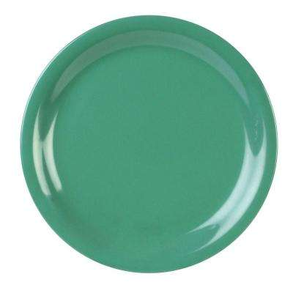 Coleur 7-1/4 in. Narrow Rim Plate in Green (12-Piece)