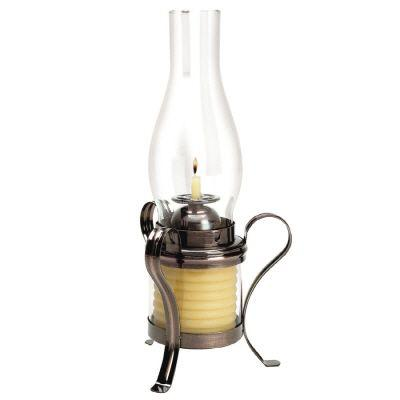 Candle by the Hour 40 Hour Coil Candle With Hurricane Lamp