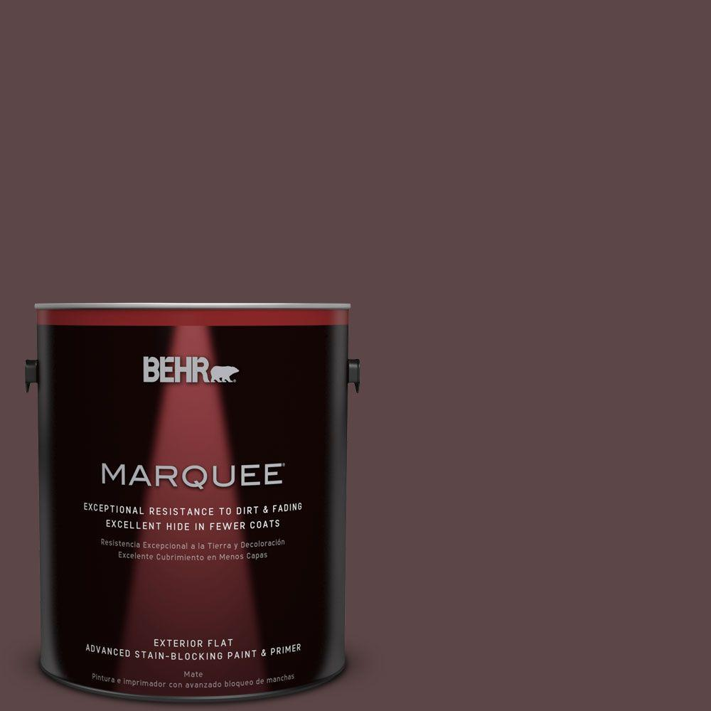 BEHR MARQUEE 1-gal. #BNC-31 Mahogany Spice Flat Exterior Paint