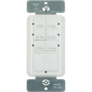 Defiant 15 Amp 4-Hour Countdown In-Wall Timer with Ground Terminal by Defiant