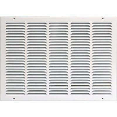 20 in. x 16 in. Return Air Vent Grille, White with Fixed Blades