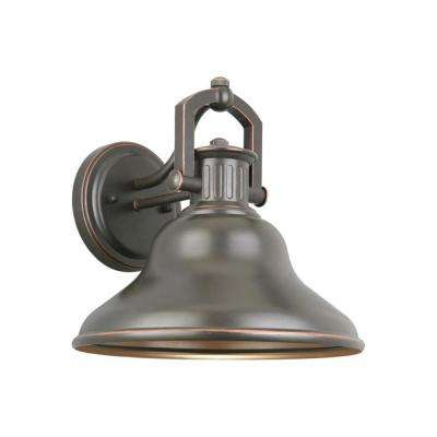 Lake Worth Oil-Rubbed Bronze LED Outdoor Wall Barn Light Sconce Latern