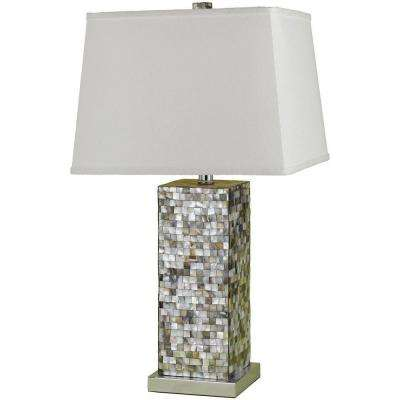 6671 Mosaic 27 in. Chrome Table Lamp