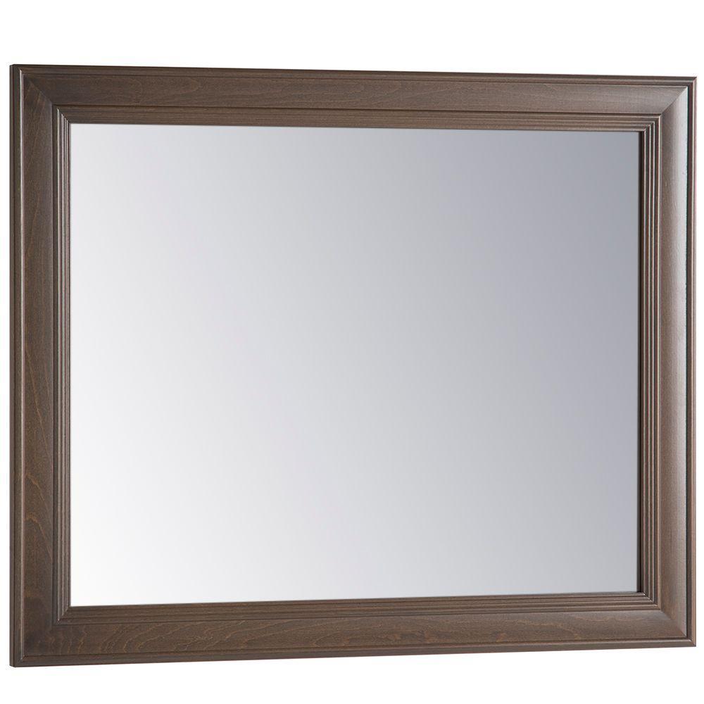 Annakin 31 in. W x 26 in. H Wall Mirror in Flagstone