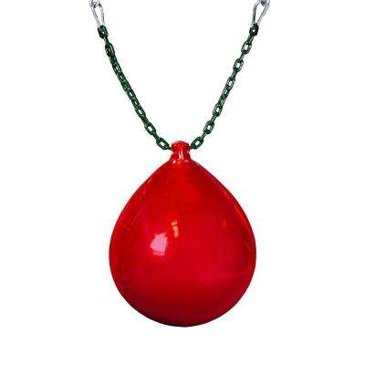 Red Buoy Ball with Chain and Spring Clips