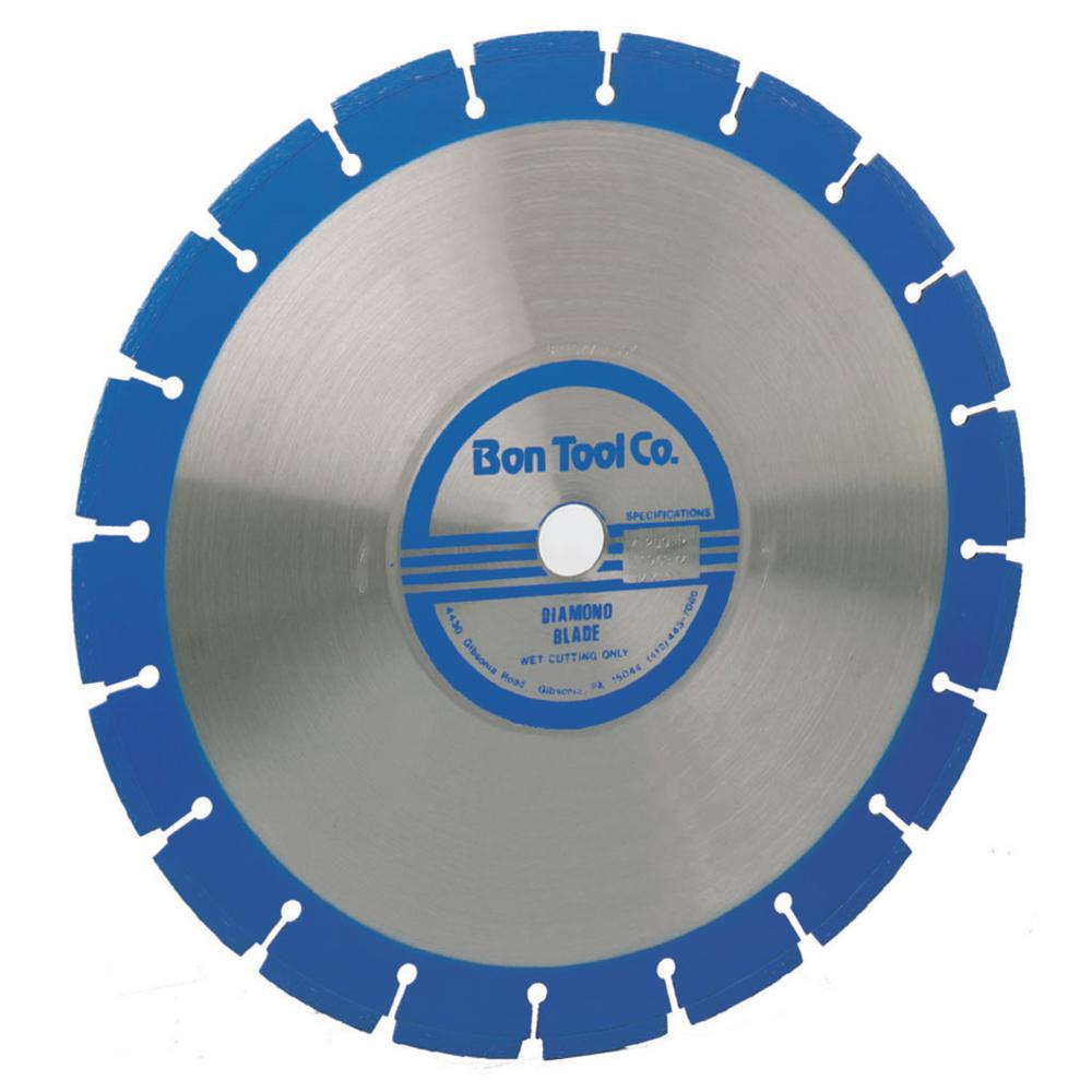 Bon Tool 14 in. Type 1 Wet Use Diamond Blade with 1 in. Arbor