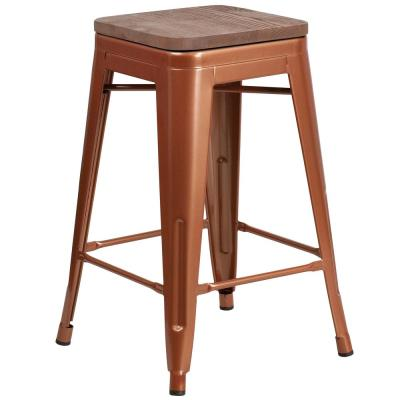 24 in. Copper Bar Stool