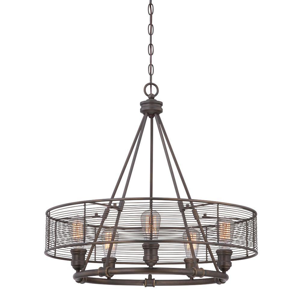 Terra Collection 5-Light Bronze Chandelier