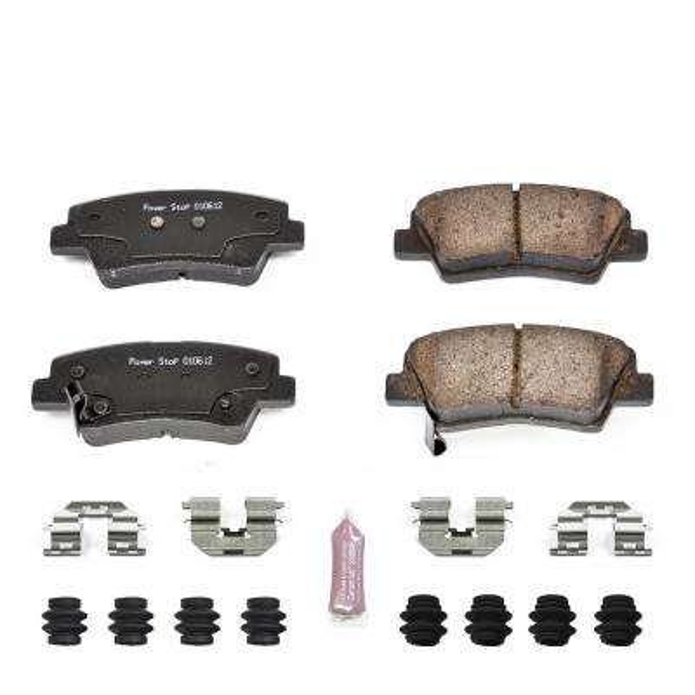 Rear Z23 Evolution Sport Carbon Fiber/Ceramic Brake Pads fits 2007-2017 Kia Rio Soul Amanti