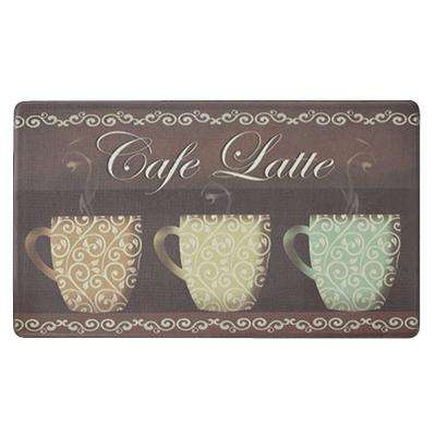Cafe Latte 20 in. x 32 in. Anti-Fatigue Kitchen Mat